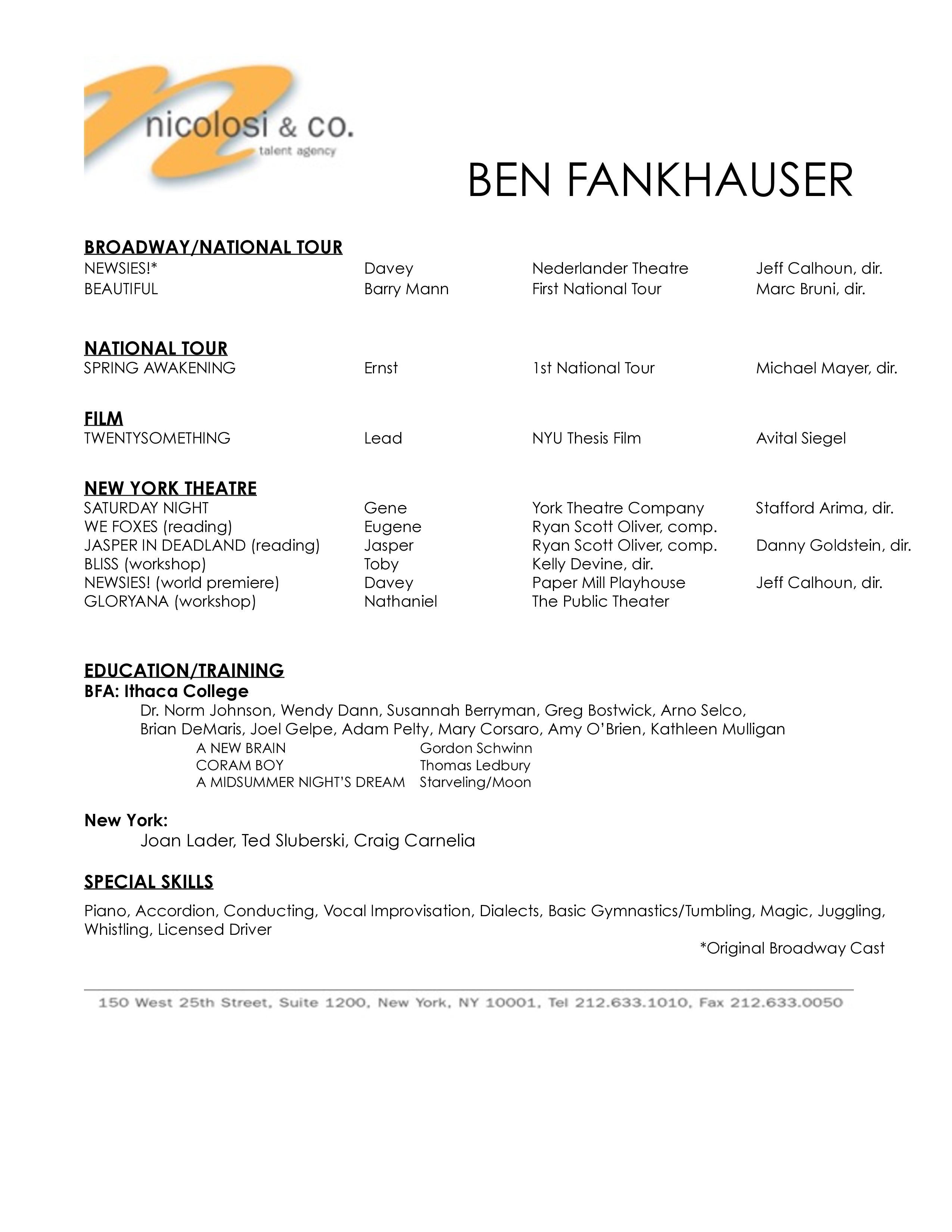 Ben Fankhauser Crazy Ex Girlfriend Nicolosi Amp Co