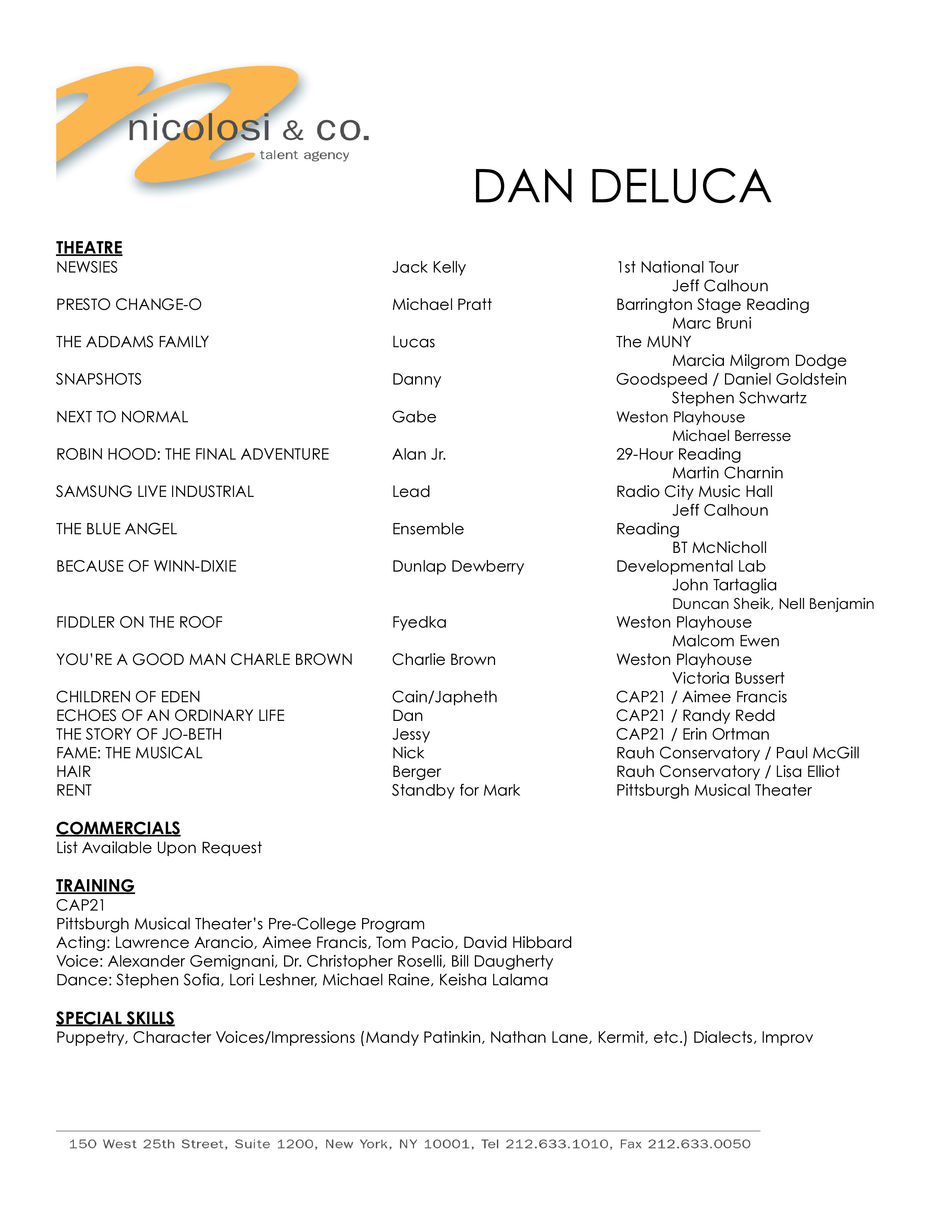 100 resume for talent agency best 20 sle resume